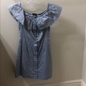 Intermix brand blue pin-striped mini dress